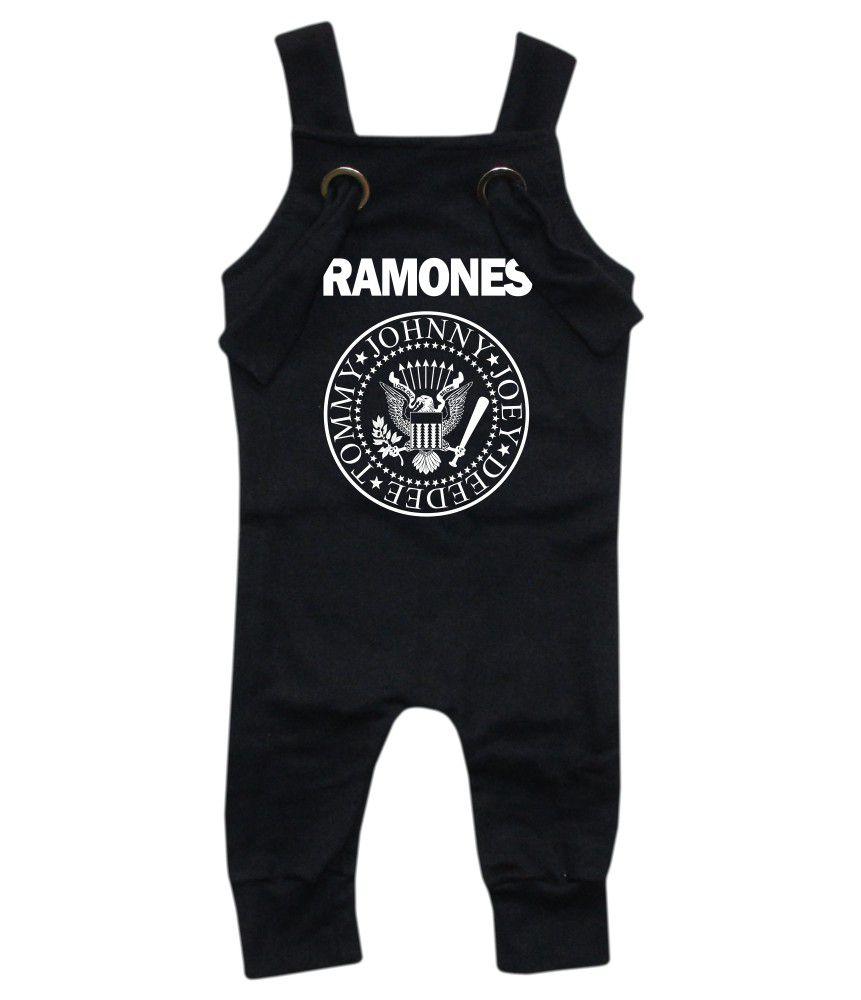 Jardineira Para bebê Macacão Estiloso Rock Ramones