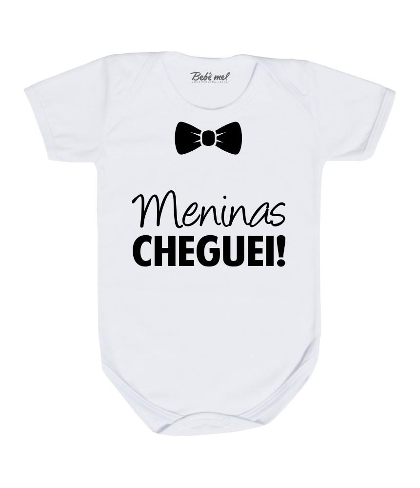 Kit 3 Peças Roupa Bebê Estilosa Meninas Cheguei!