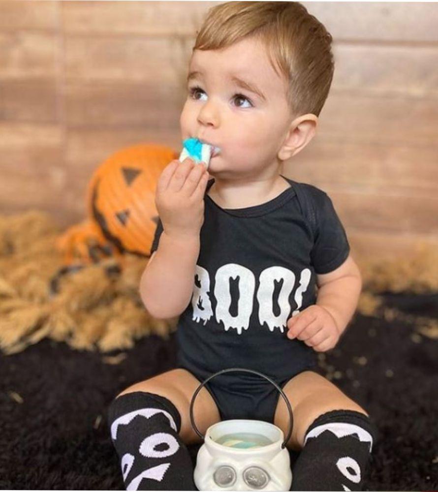 Kit Halloween Body Boo + Meia Monstrinho