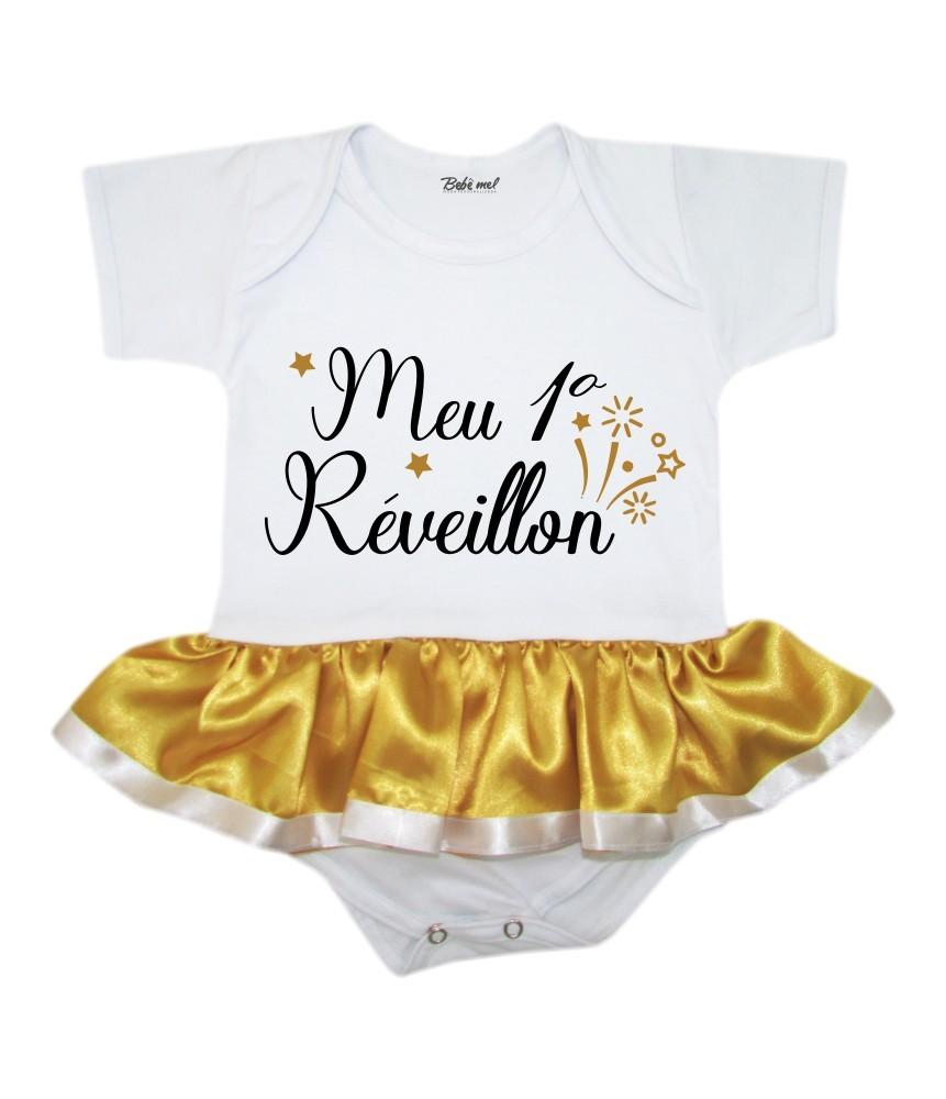 Kit Natal Body Saia Mamãe Noel e Réveillon + Gorro
