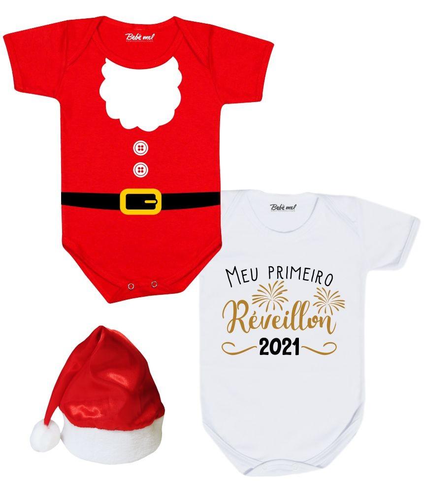 Kit Natal e Ano Novo 2 Bodies + Gorro