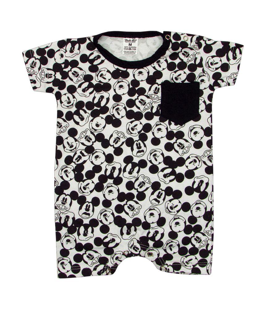 Macacão Bebê Curto Mickey