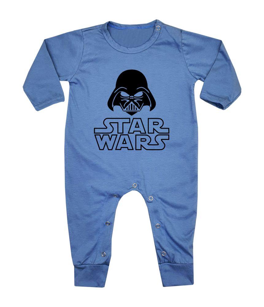 Macacão Bebê Longo em Malha Azul Star Wars