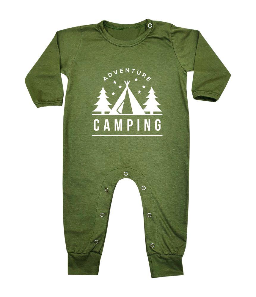 Macacão Bebê Longo em Malha Camping