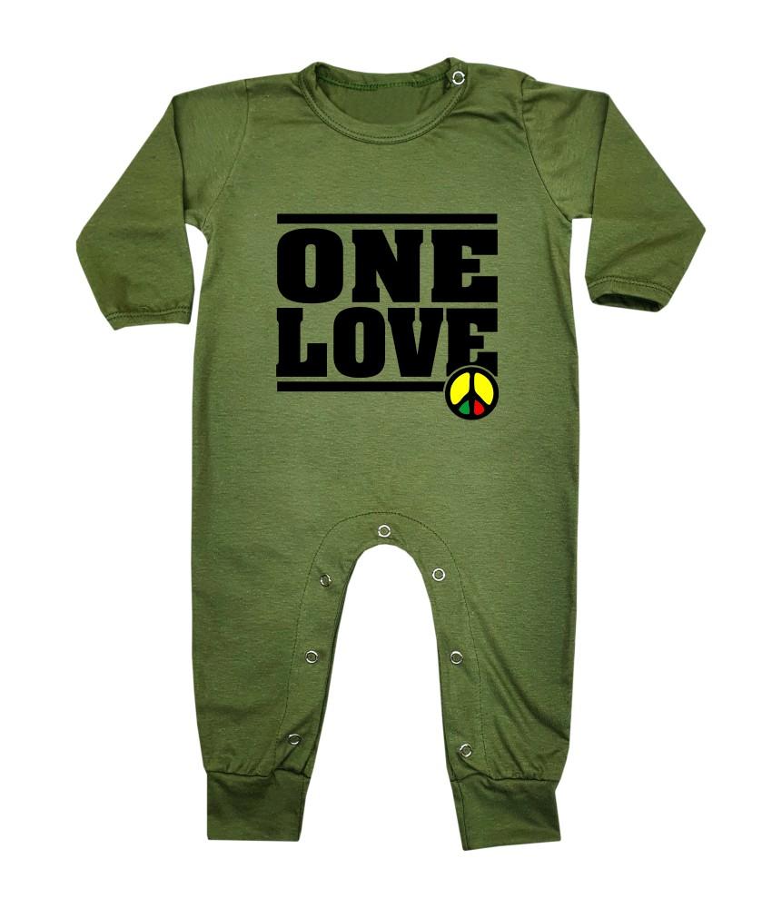 Macacão Bebê Longo Reggae One Love
