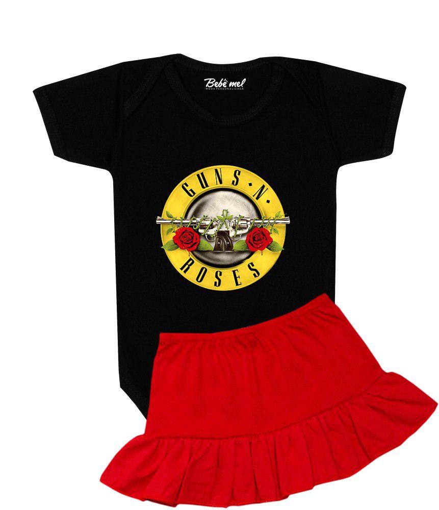 Roupa Bebê Menina Body Rock Guns´n Roses