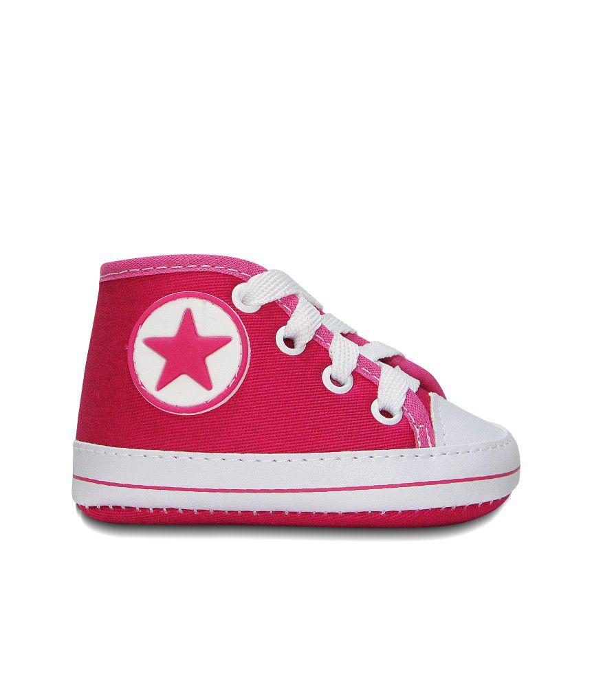 Tênis Bebê Estilo All Star Sapatinho Cano Alto Pink