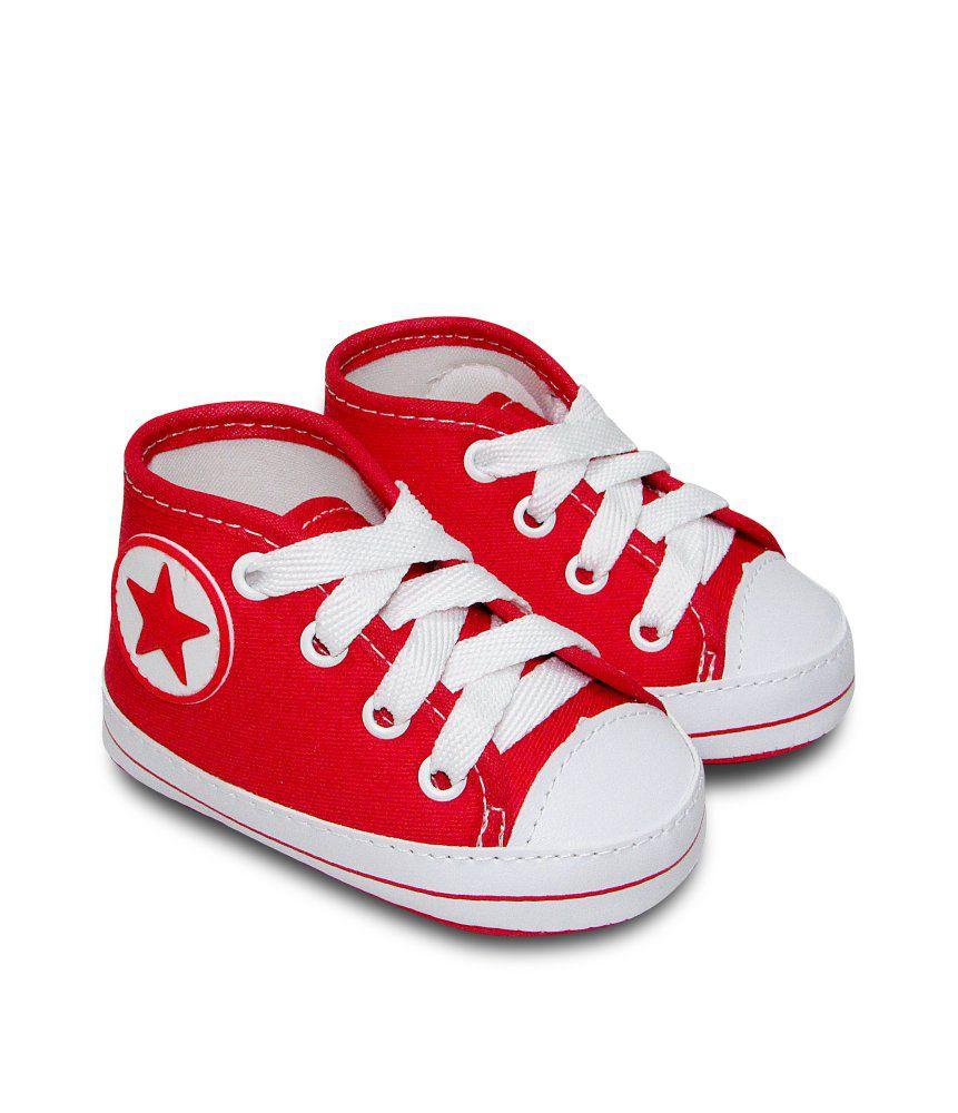 Tênis Bebê Estilo All Star Sapatinho Cano Alto Vermelho