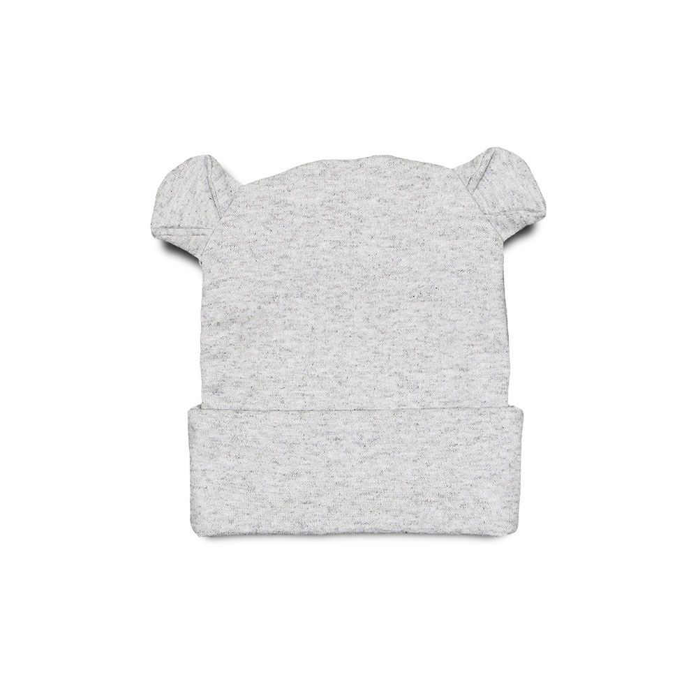 Touca Para Bebê Orelhinhas Urso Mescla