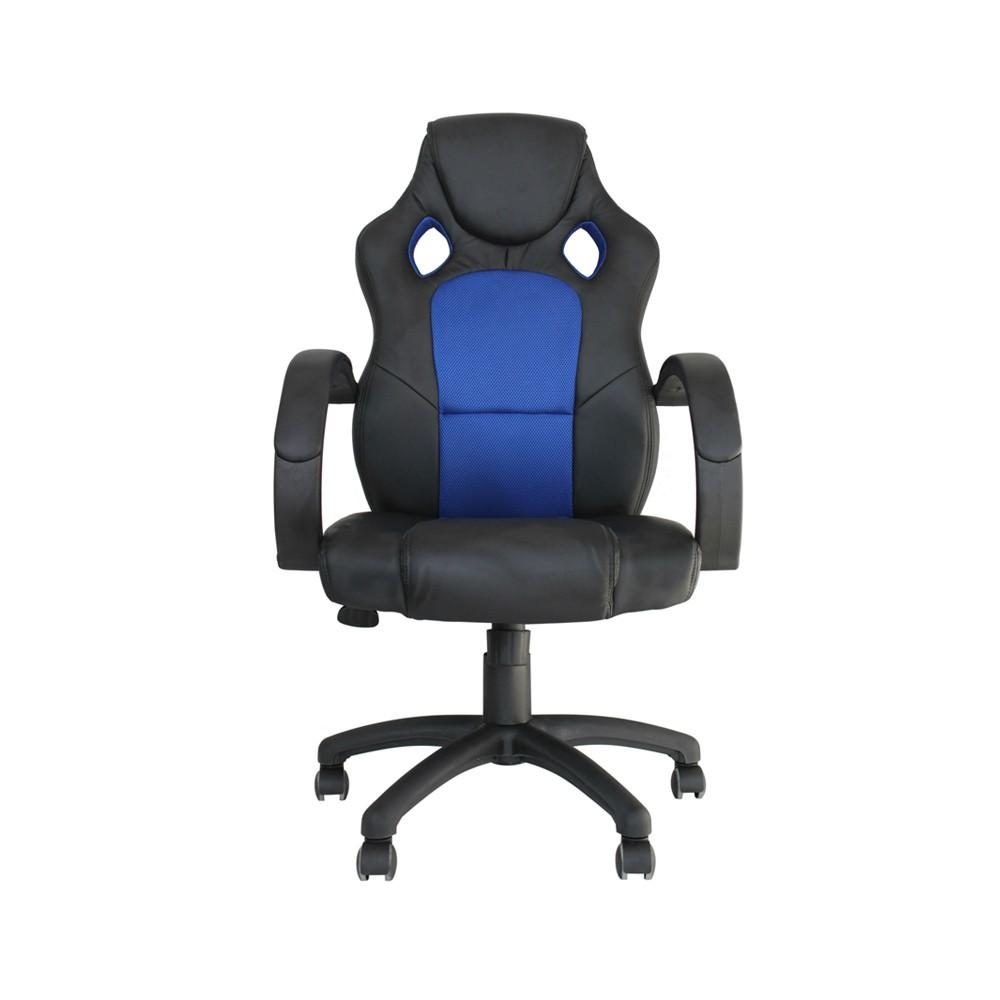 Cadeira de Escritório Office Racer Preta com Azul