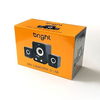 Caixa De Som Mini Subwoofer 5W 2.1 Usb Bright 506