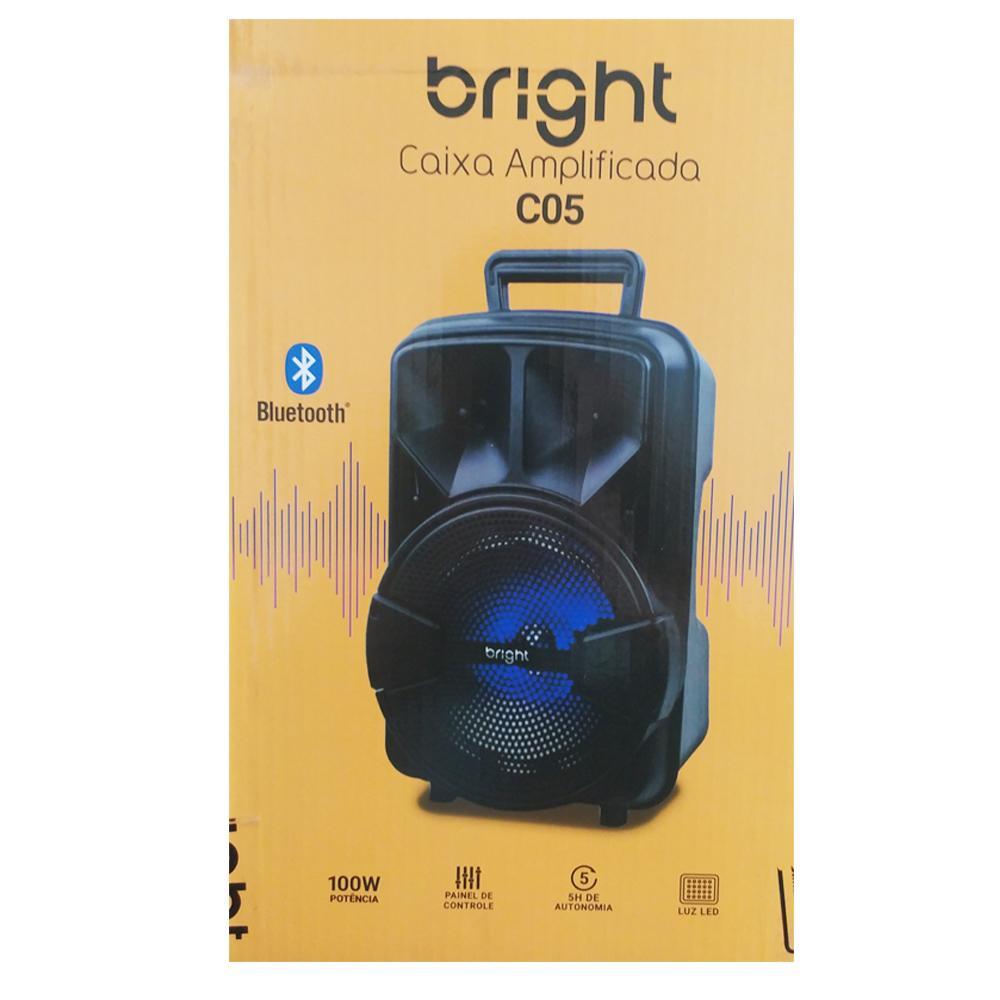 Caixa De Som Bluetooth Amplificada USB e FM 100W com TWS  - BRIGHT