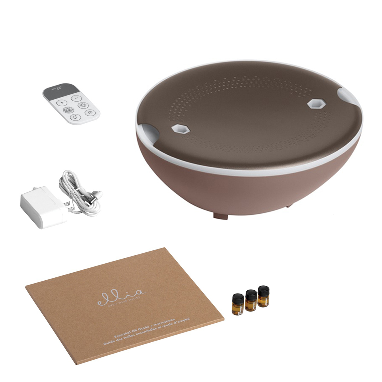 Difusor de aroma umidificado ultrassônico c/controle Ellia