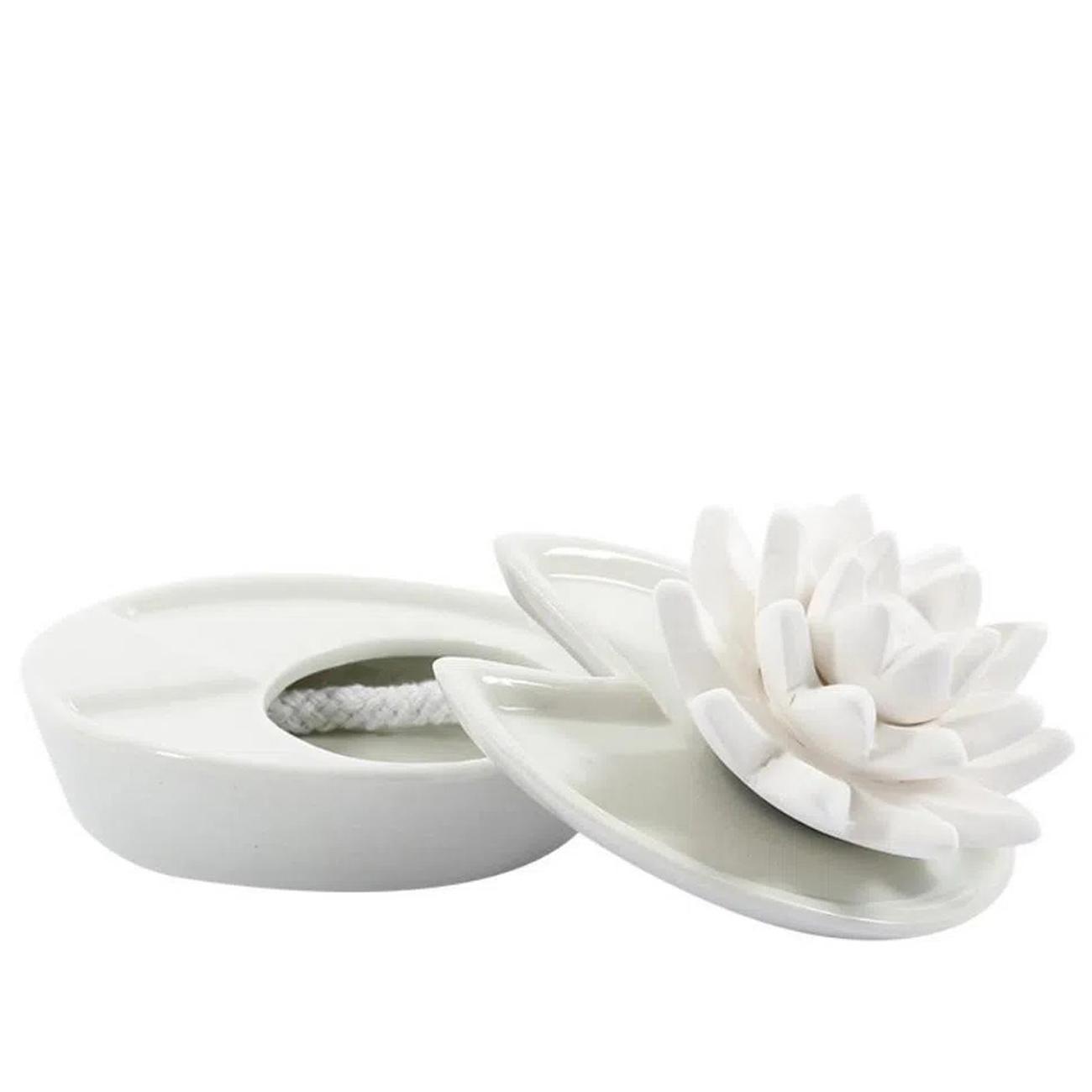 Difusor de cerâmica flor de lótus aromatizador Ellia