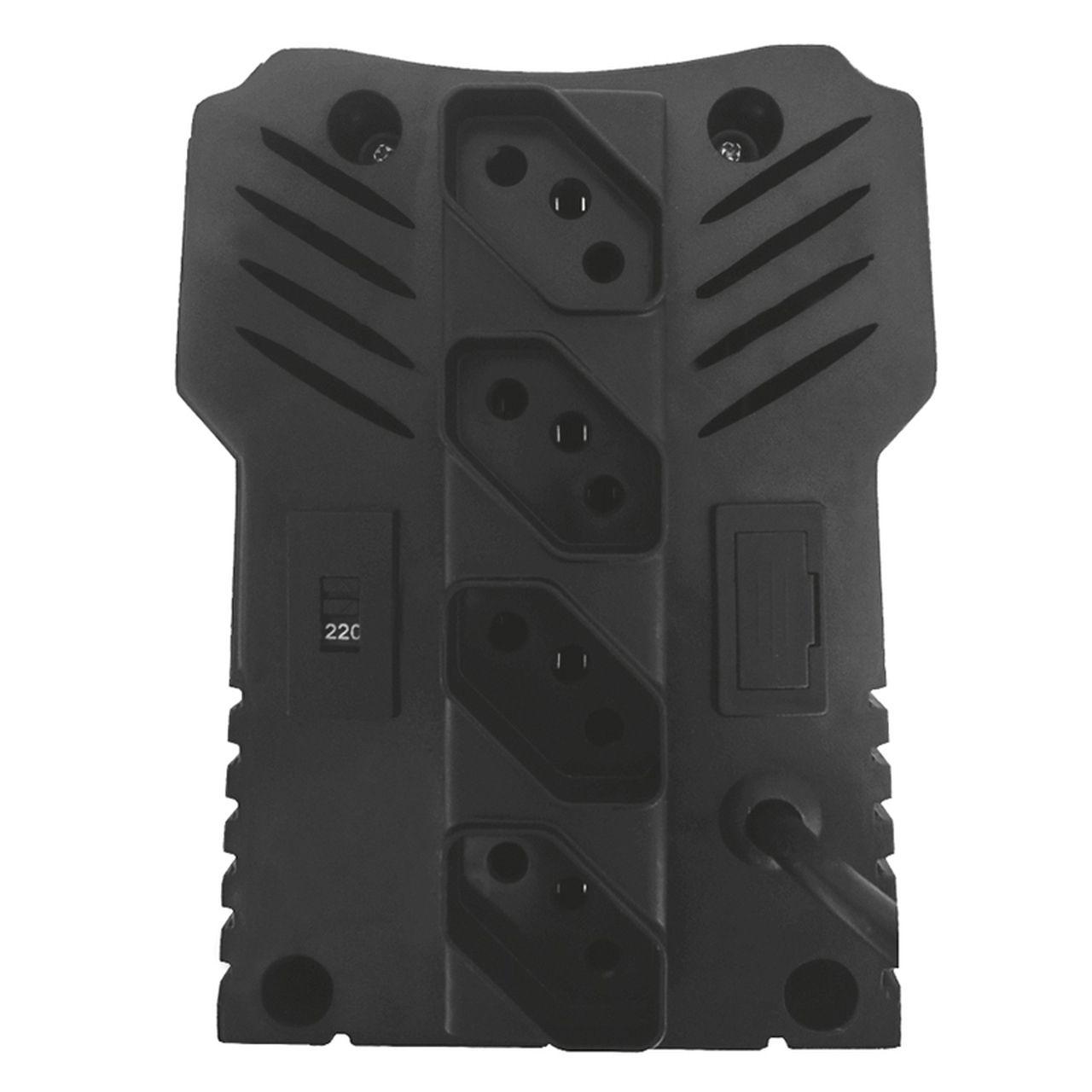 Estabilizador bivolt protetor eletrônico 4 tomadas 750VA 525 - Bright