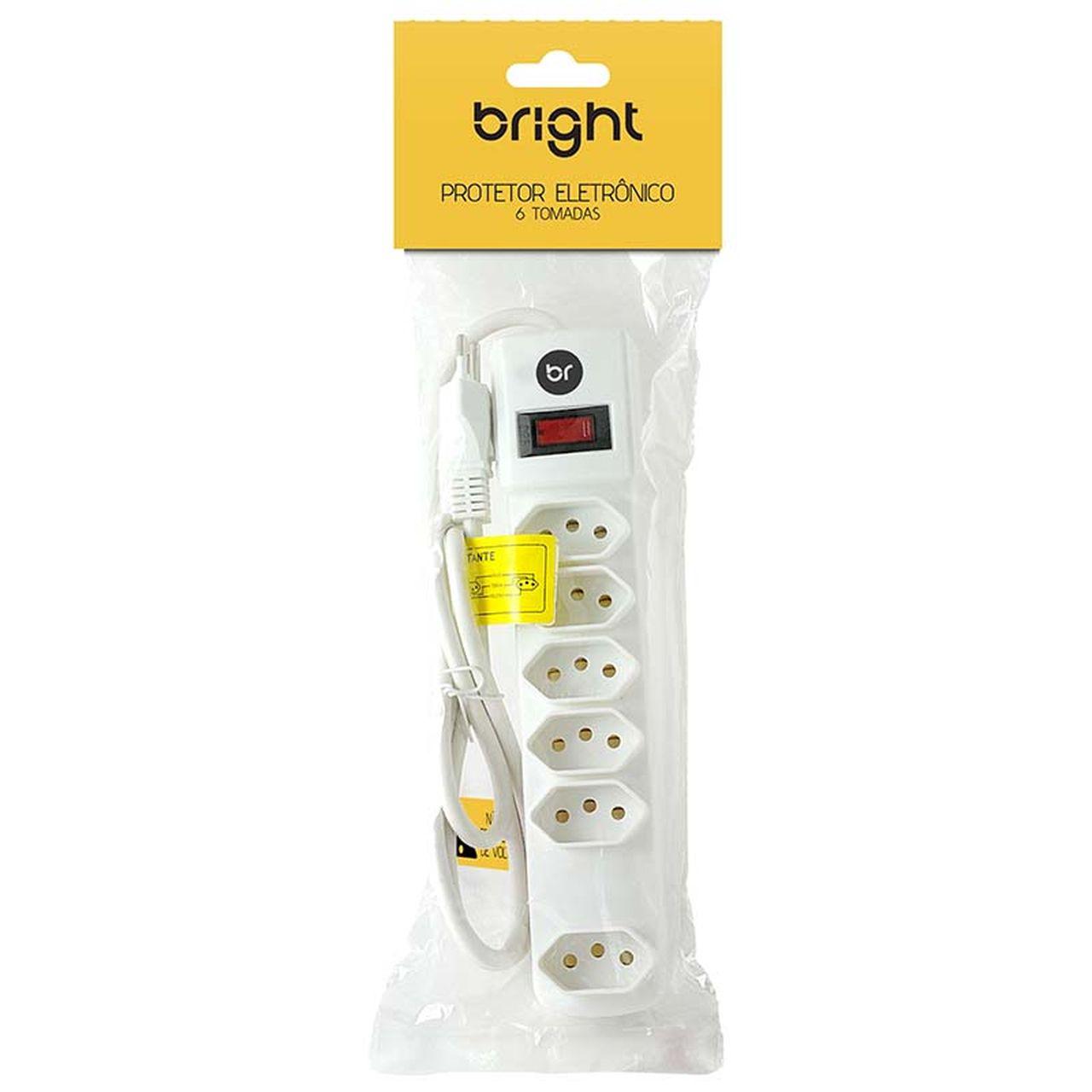 Filtro De Linha 6 Tomadas Protetor Eletrônico Bivolt Bright
