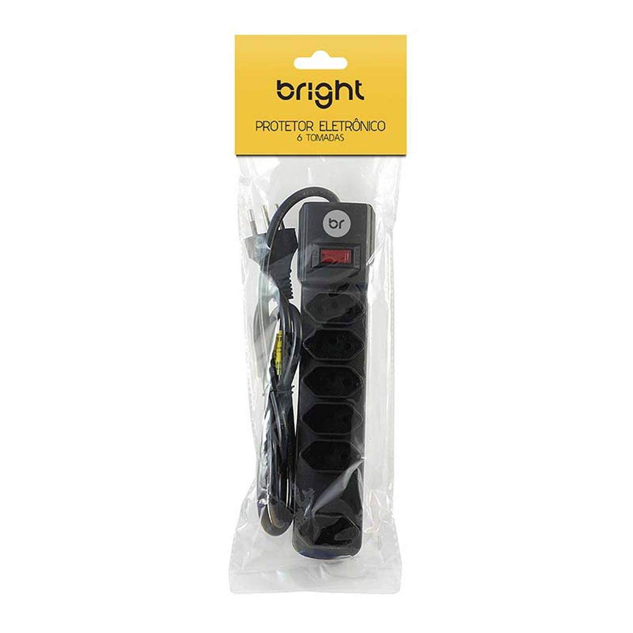 Filtro Dd Linha Régua com 6 Tomadas Protetor Eletrônico Bivolt 6722 Bright  - BRIGHT