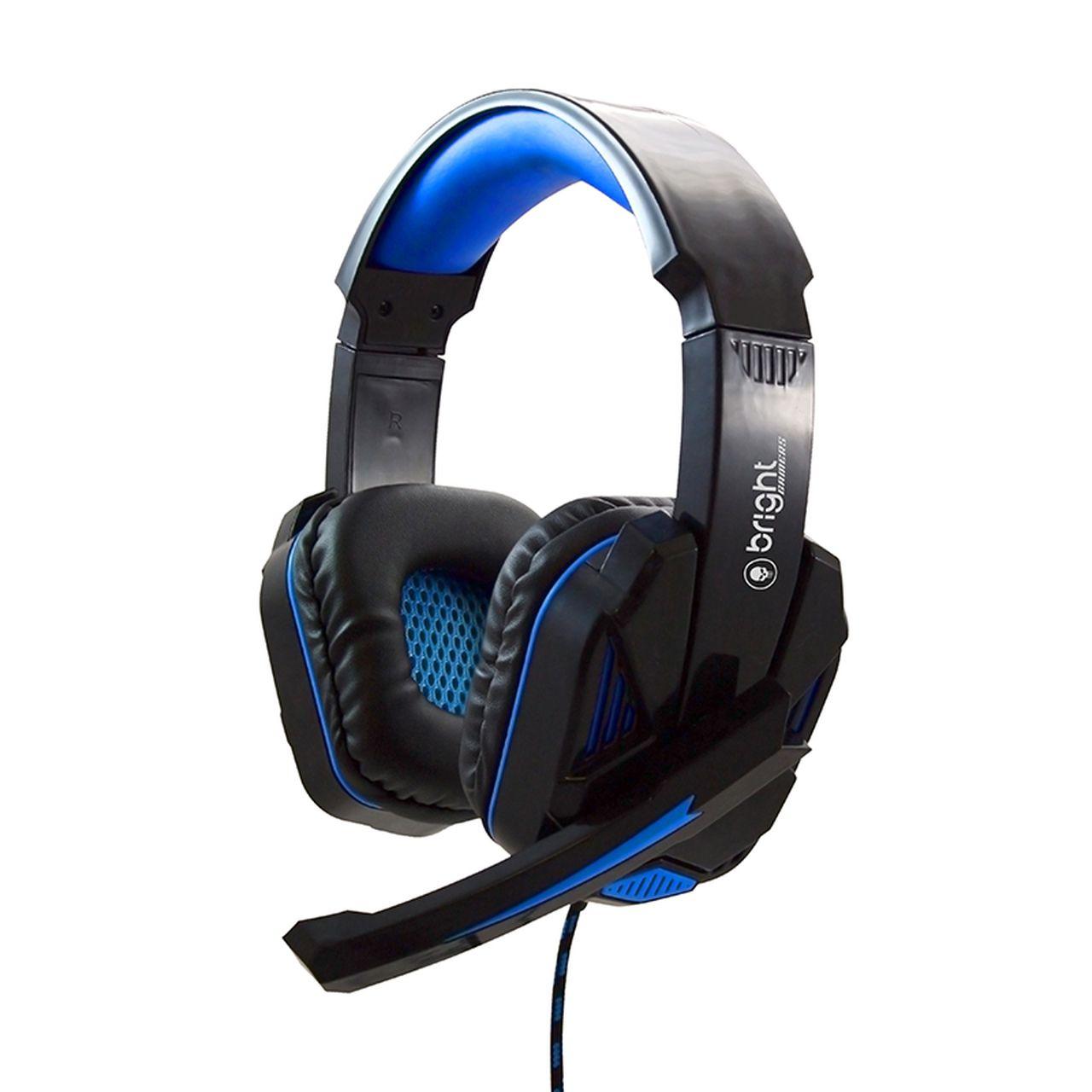 Fone de Ouvido Headset Gamer controle volume e haste regulável Azul 467 - Bright
