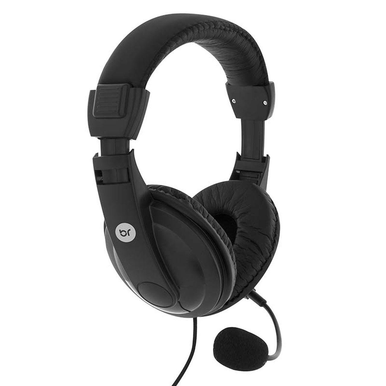 Headset Fone Estéreo P2 Office Haste Regulável Bright 507