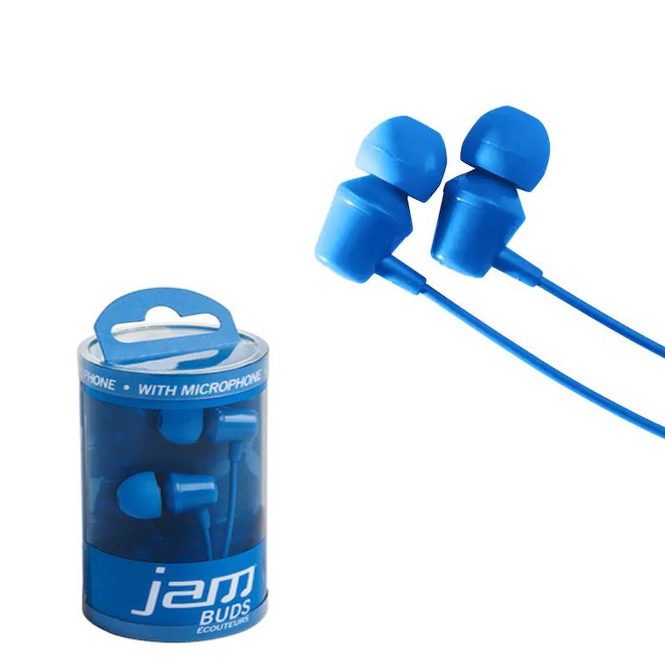 Fone de ouvido intra auricular com fio e microfone Jam Azul