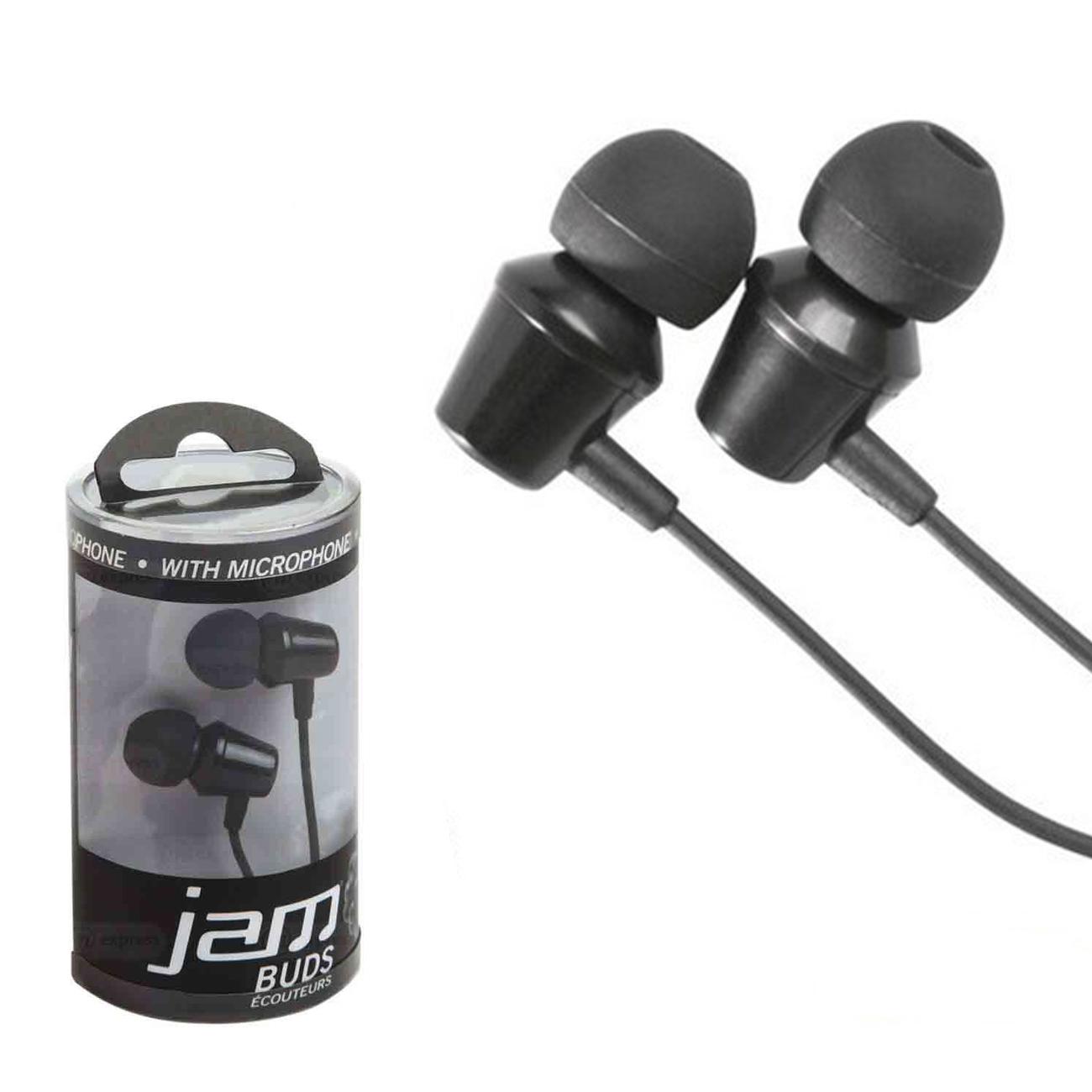 Fone de ouvido intra auricular com fio e microfone Jam Preto
