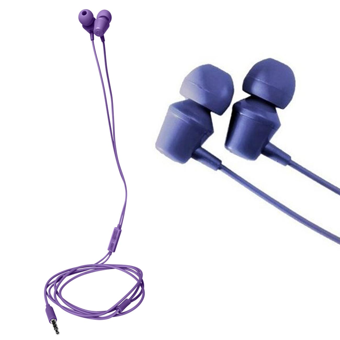 Fone de ouvido intra auricular com fio e microfone Jam Roxo  - BRIGHT