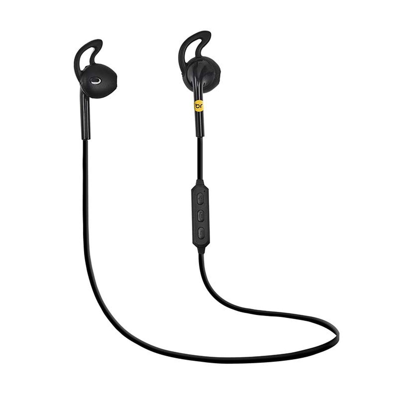 Fone de Ouvido sem fio Bluetooth controle volume e chamada telefônica preto 481 - Bright