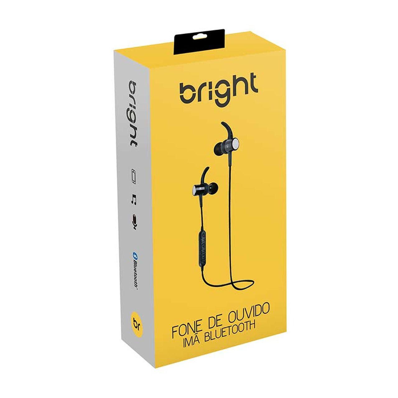 Fone Bluetooth Sem Fio Magnetico Com Microfone Bright 511