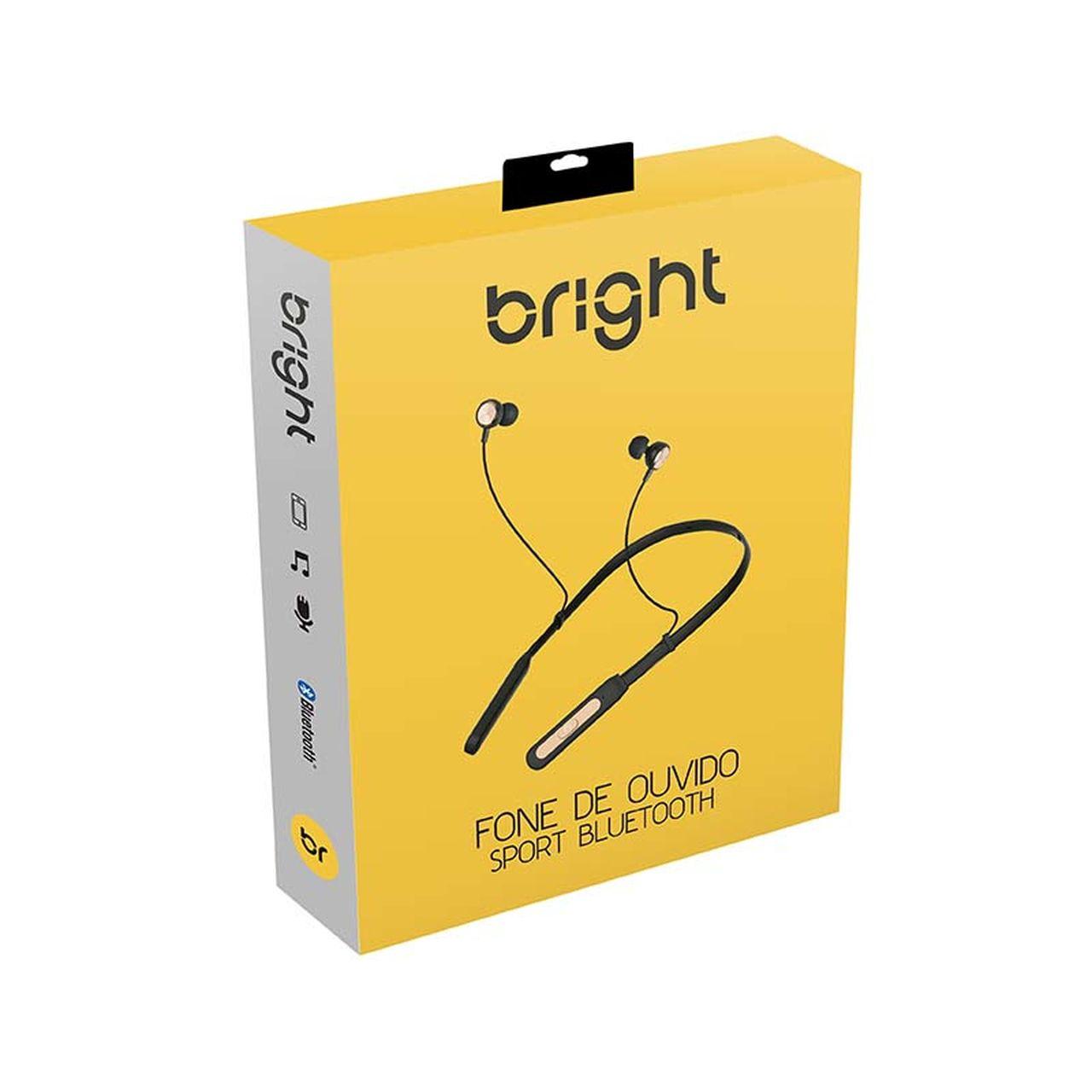 Fone de Ouvido Sem Fio Bluetooth Sport Bright 510 Preto