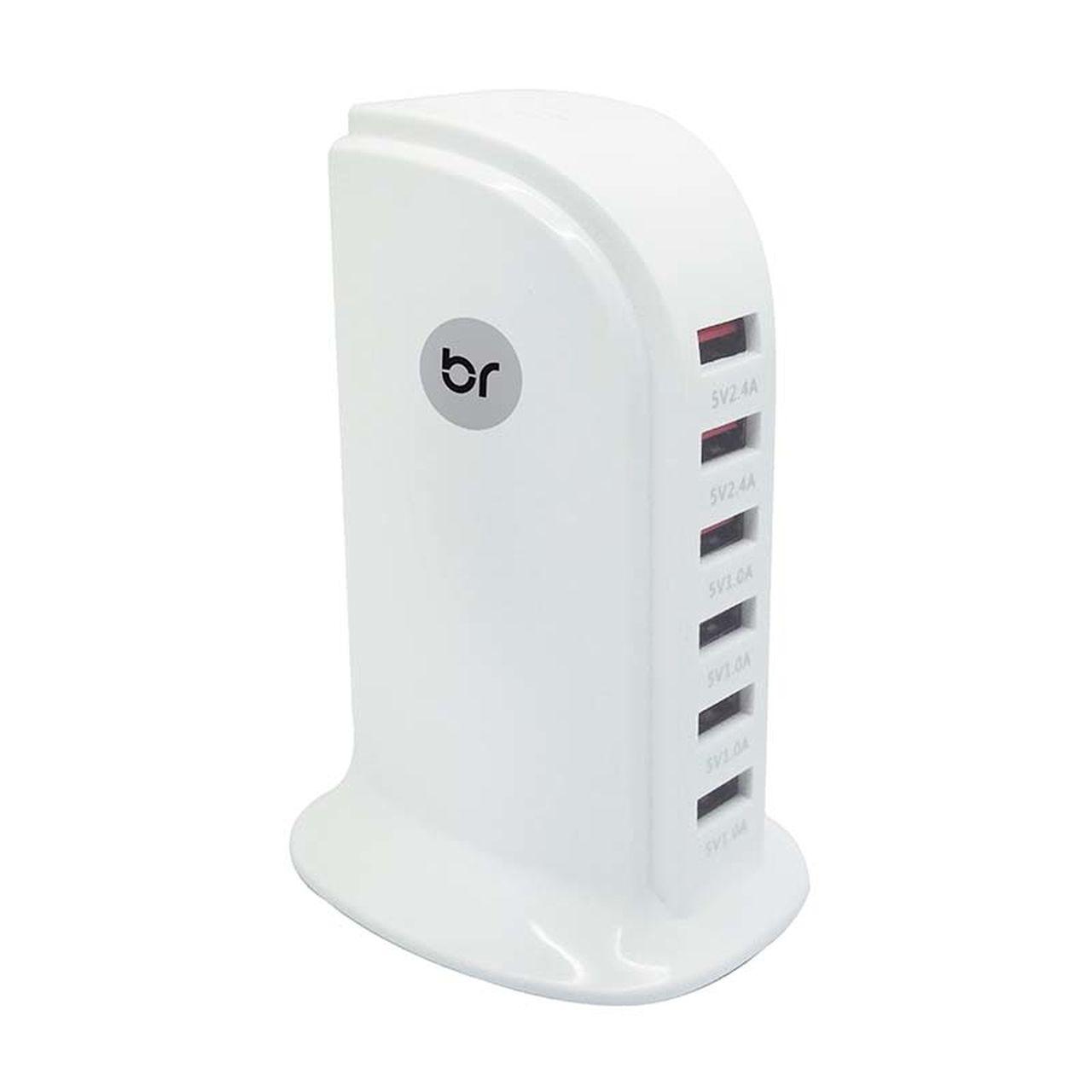 Hub e Carregador USB Torre com 6 portas 1.0V e 2.4V 476 - Bright