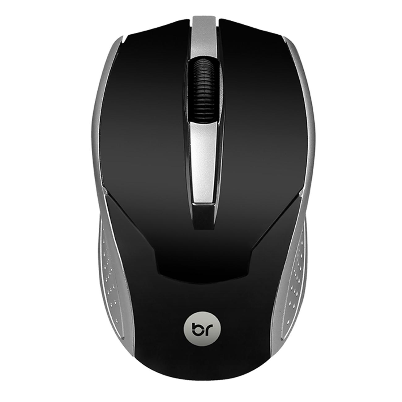 Kit 10 Mouses Usb Preto e Prata 800Dpi Bright 28