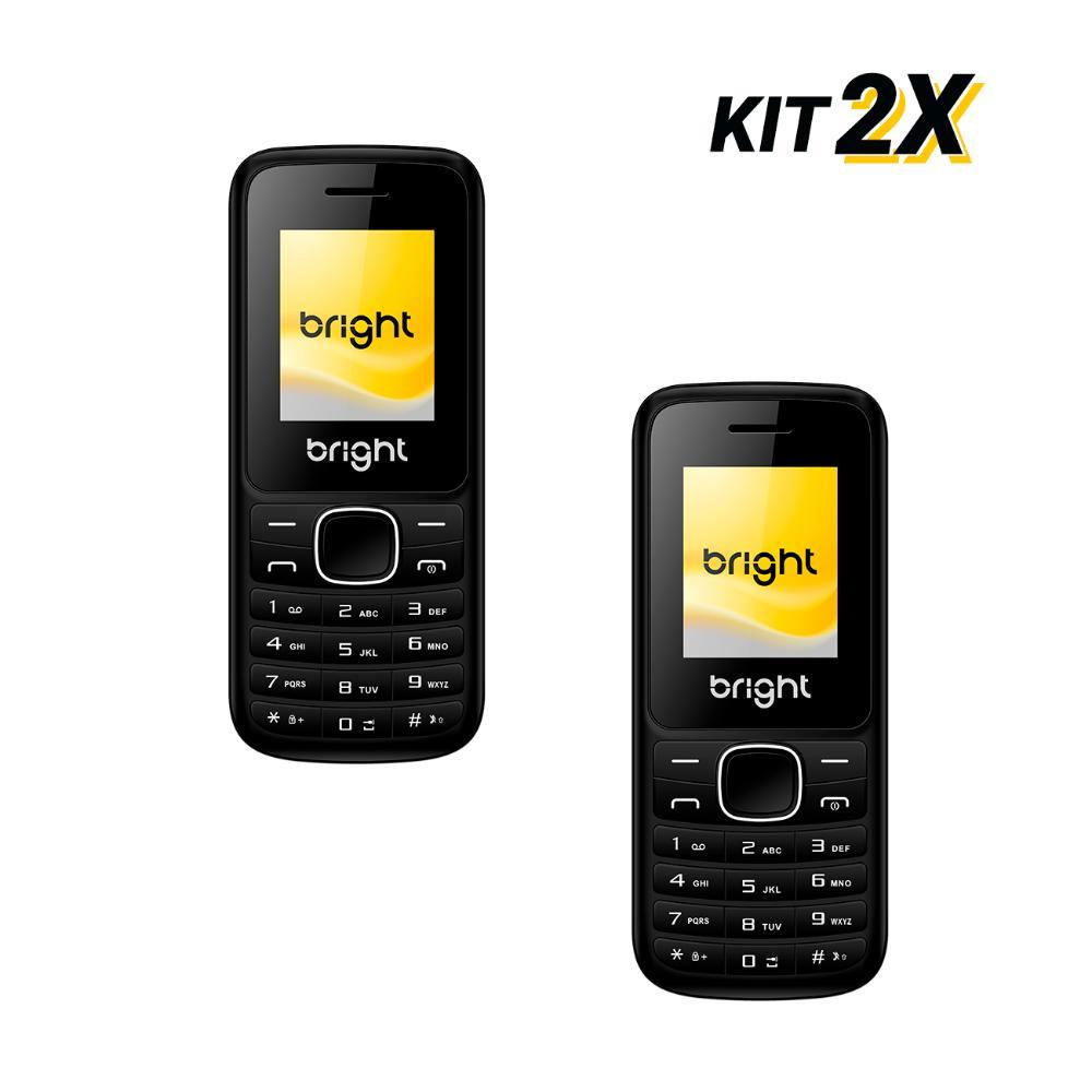 Kit 2 Celulares Barra Dual Chip Câmera MP3 e Bluetooth Preto