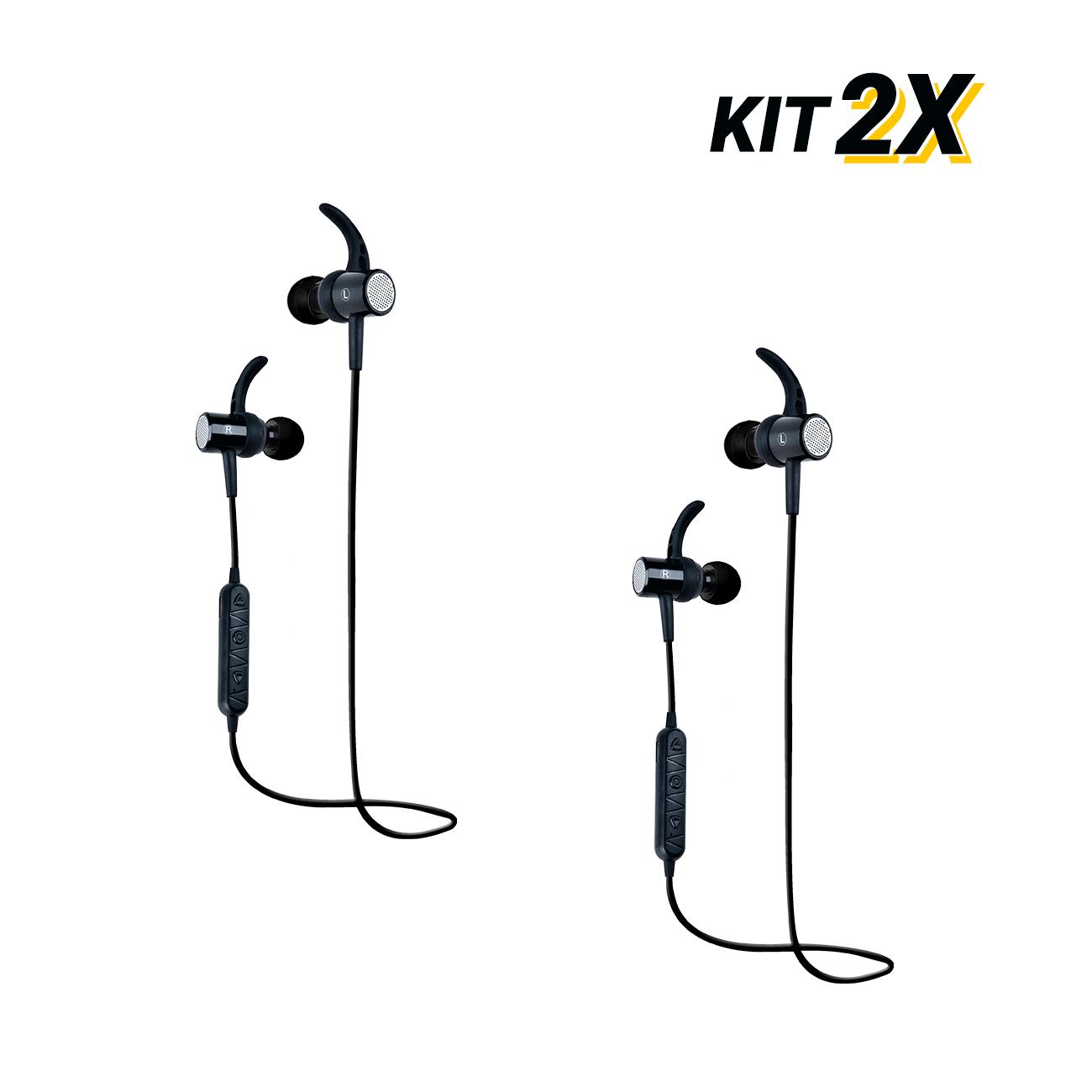 Kit 2 Fones Bluetooth Esporte Sem Fio Magnético 511 Bright  - BRIGHT