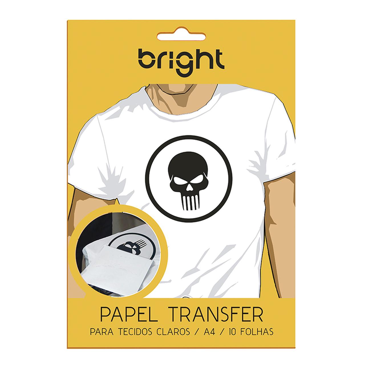 Kit 3 Papel Transfer p/ Tecido Claro c/ 30 folhas Bright 121