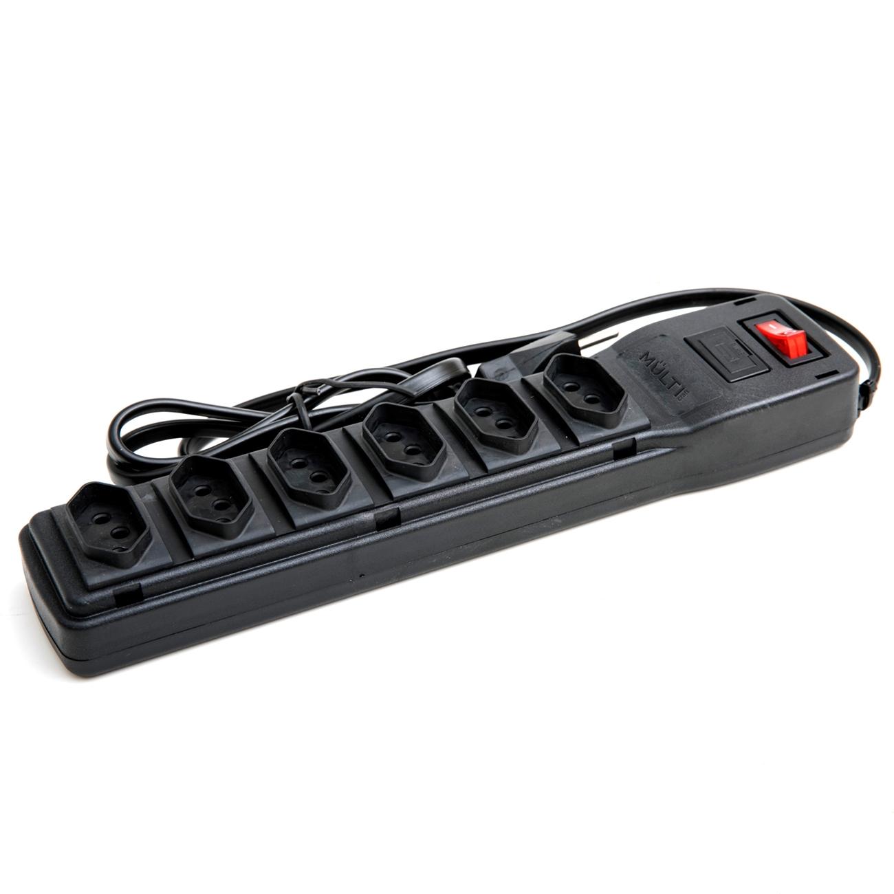 Kit 4 Filtros de Linha com 6 Tomadas e Protetor Eletrônico  - BRIGHT