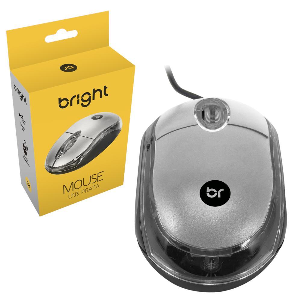 Kit 5 Mouse Usb Basic Óptico Com Fio Pc Notebook 107 Bright  - BRIGHT