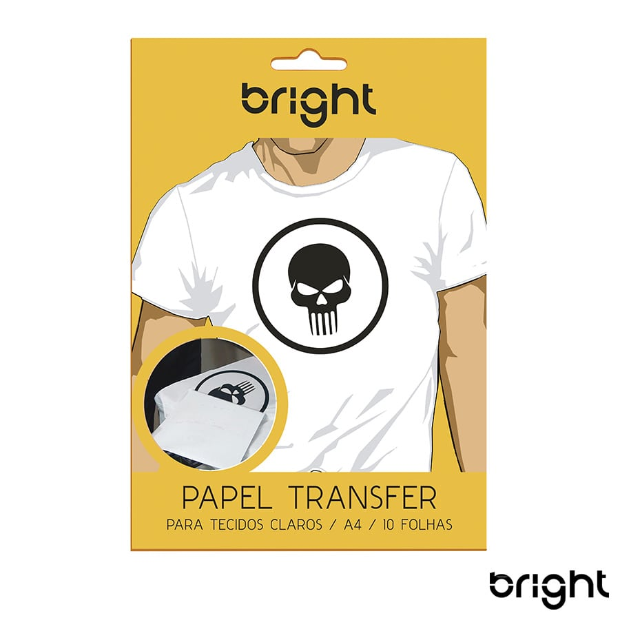 Kit 5 Papel Transfer p/ Tecido Claro c/ 50 folhas Bright 121