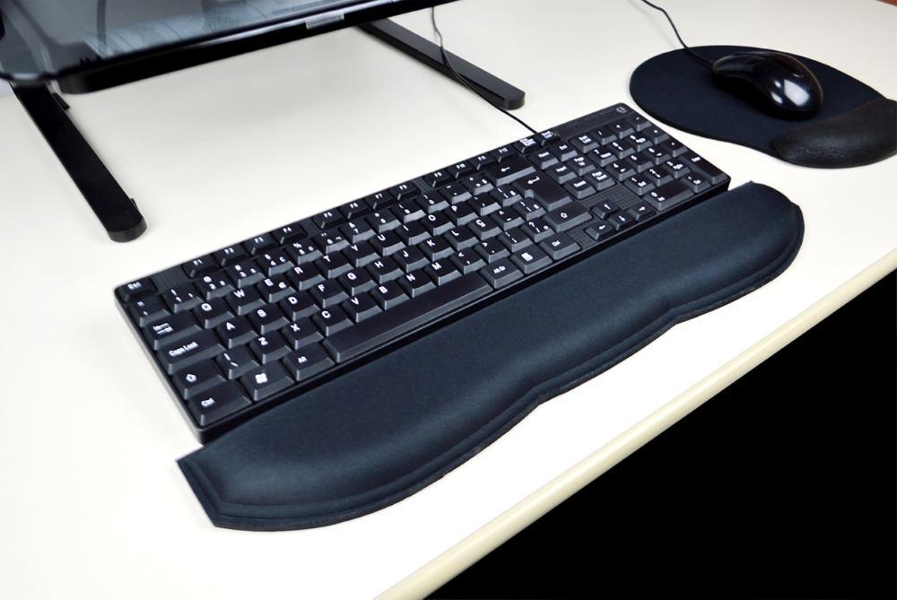 Kit Apoio Ergonômico de Teclado e Mousepad com Gel Confort