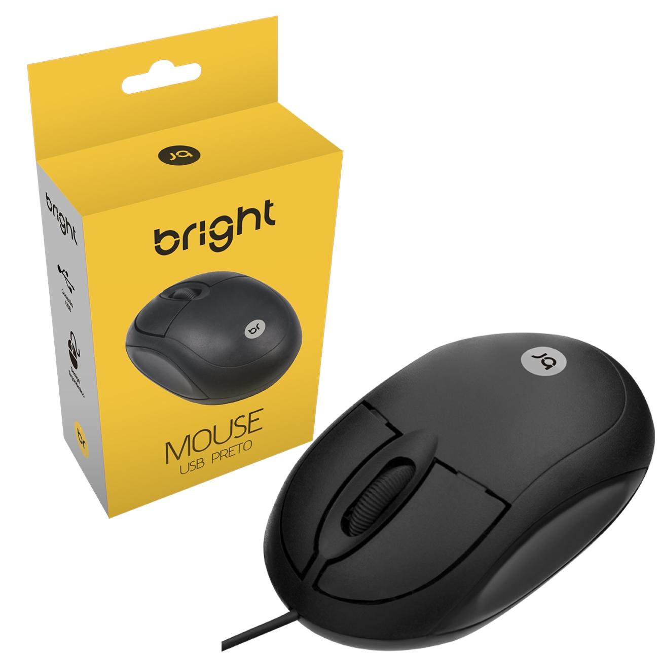 Kit Combo Office Mouse Óptico 800Dpi e Teclado Abnt2 Basic