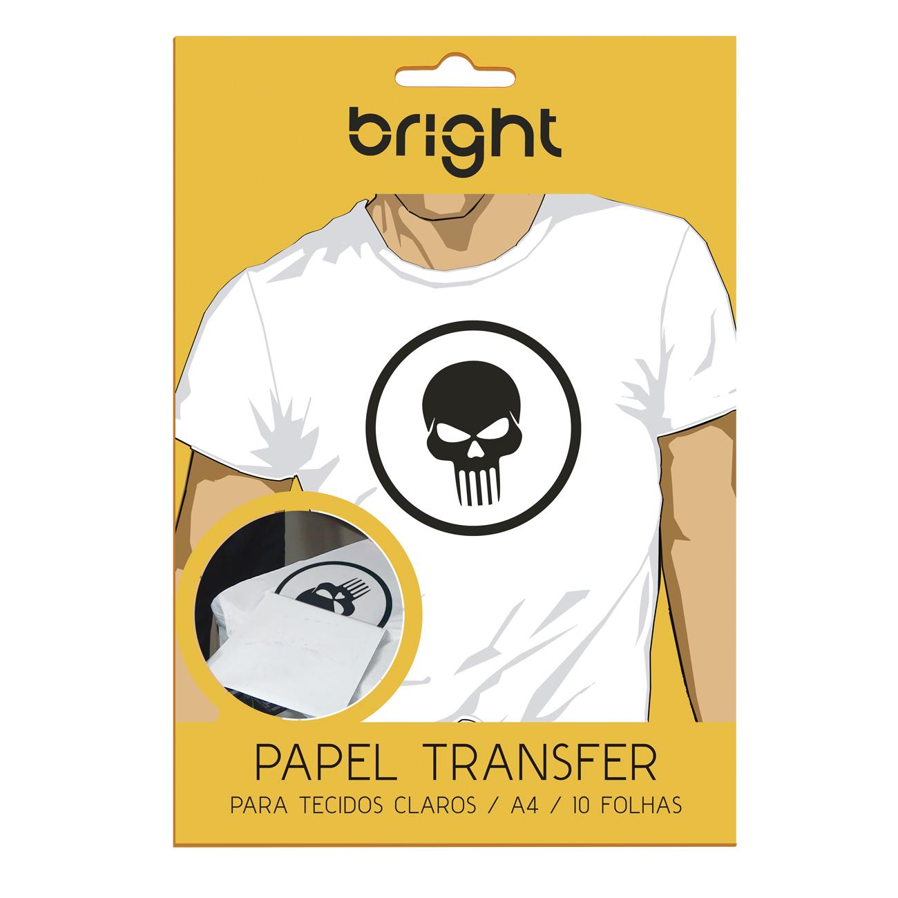 Kit Papel Transfer P/ Tecidos Claros e Escuros com 15 Folhas  - BRIGHT