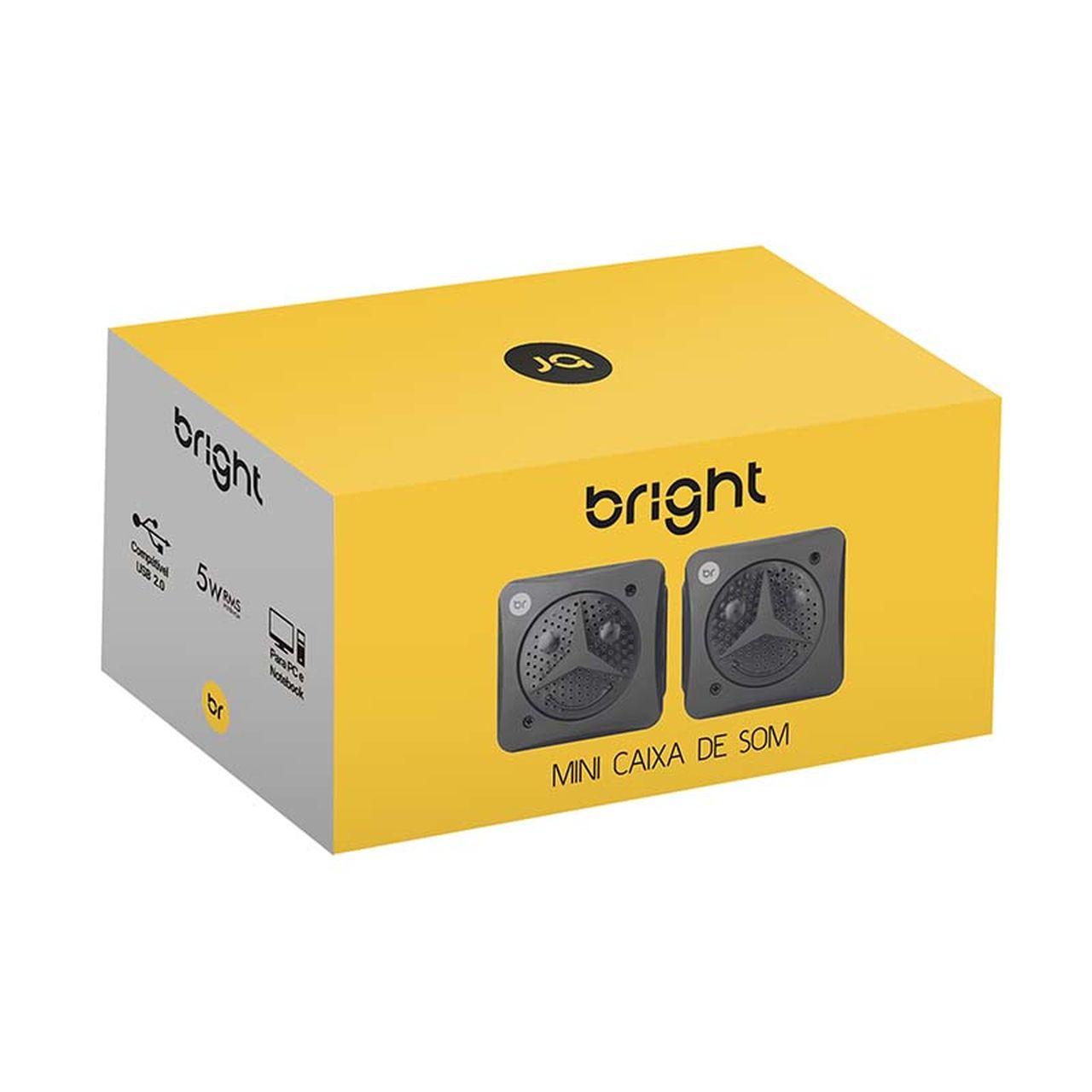 Mini Caixa de som 2.0 5W USB preta 359 - Bright