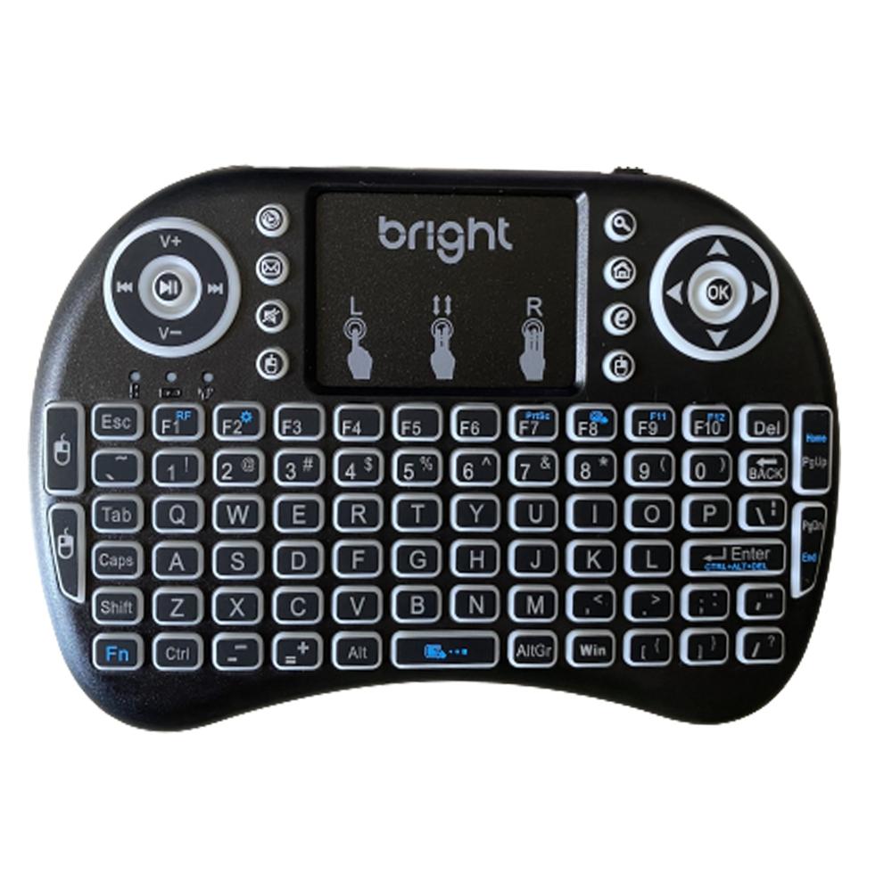 Mini Teclado Sem Fio Para Smart Tv Pc Controle Iluminado  - BRIGHT