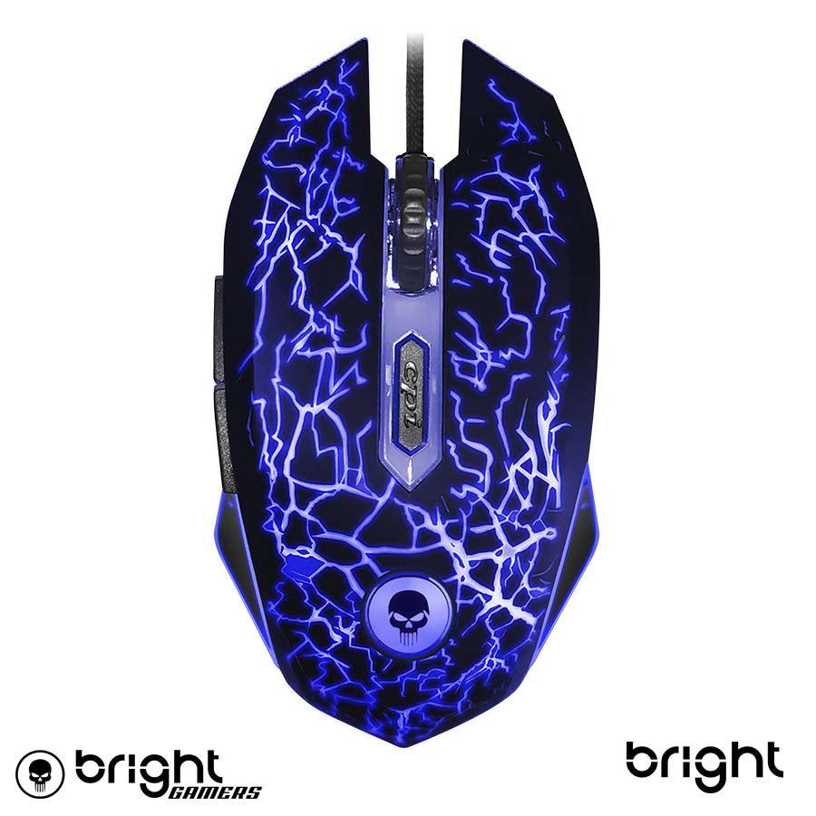 Mouse Gamer Light Usb Rgb 2400 Dpi 6 Botões Bright 447