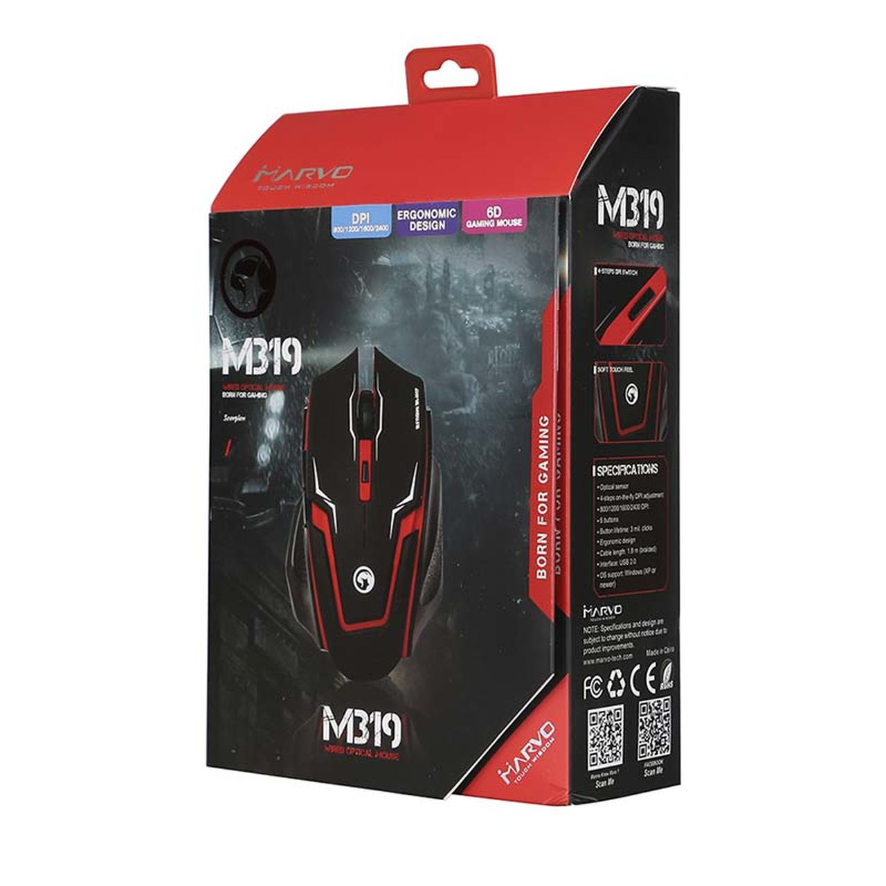 Mouse Gamer M319RD Scorpion  - BRIGHT
