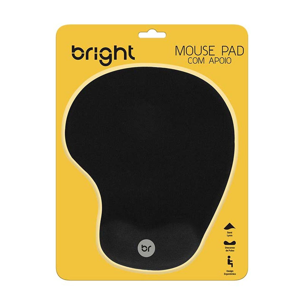 Mousepad Ergonômico com Apoio De Pulso Em Gel 307 Bright  - BRIGHT