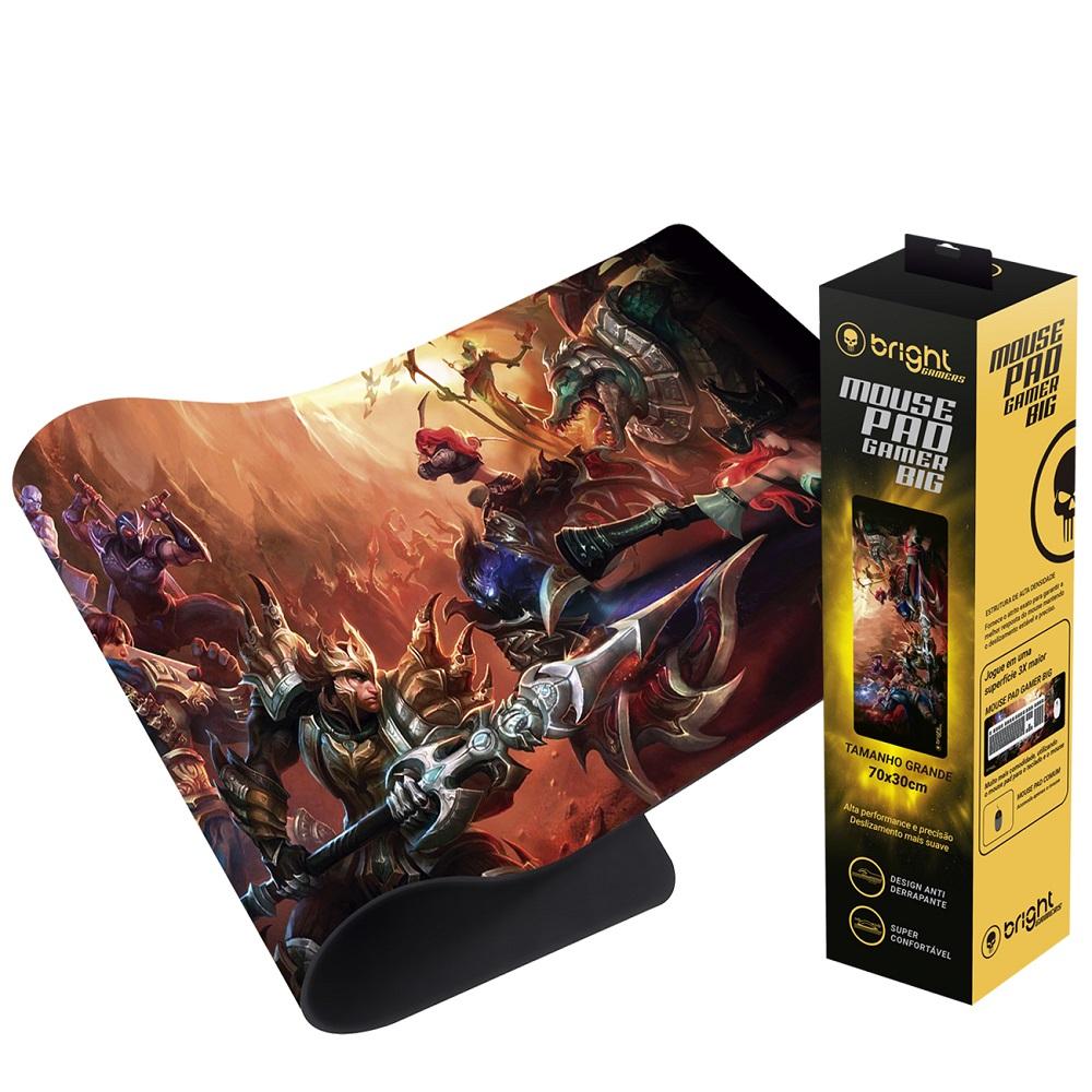 Mousepad Gamer Grande 69x28cm lol Fantasy 552BR Bright  - BRIGHT