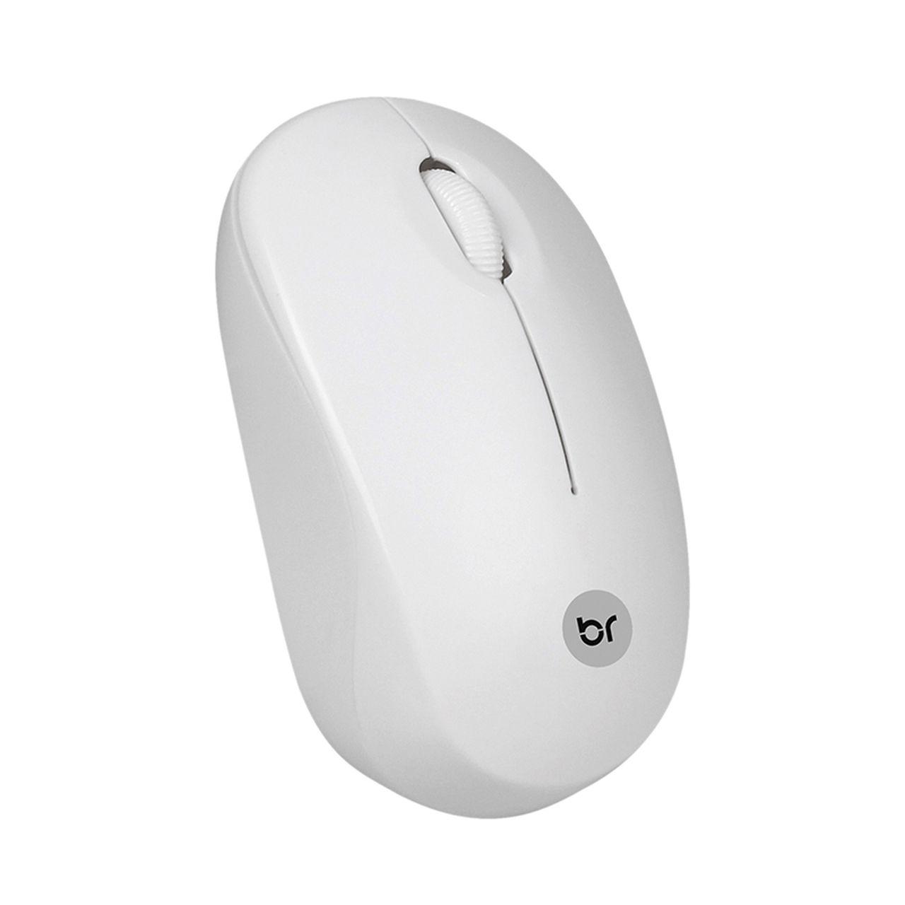 Mouse Sem Fio USB Branco 473 - Bright