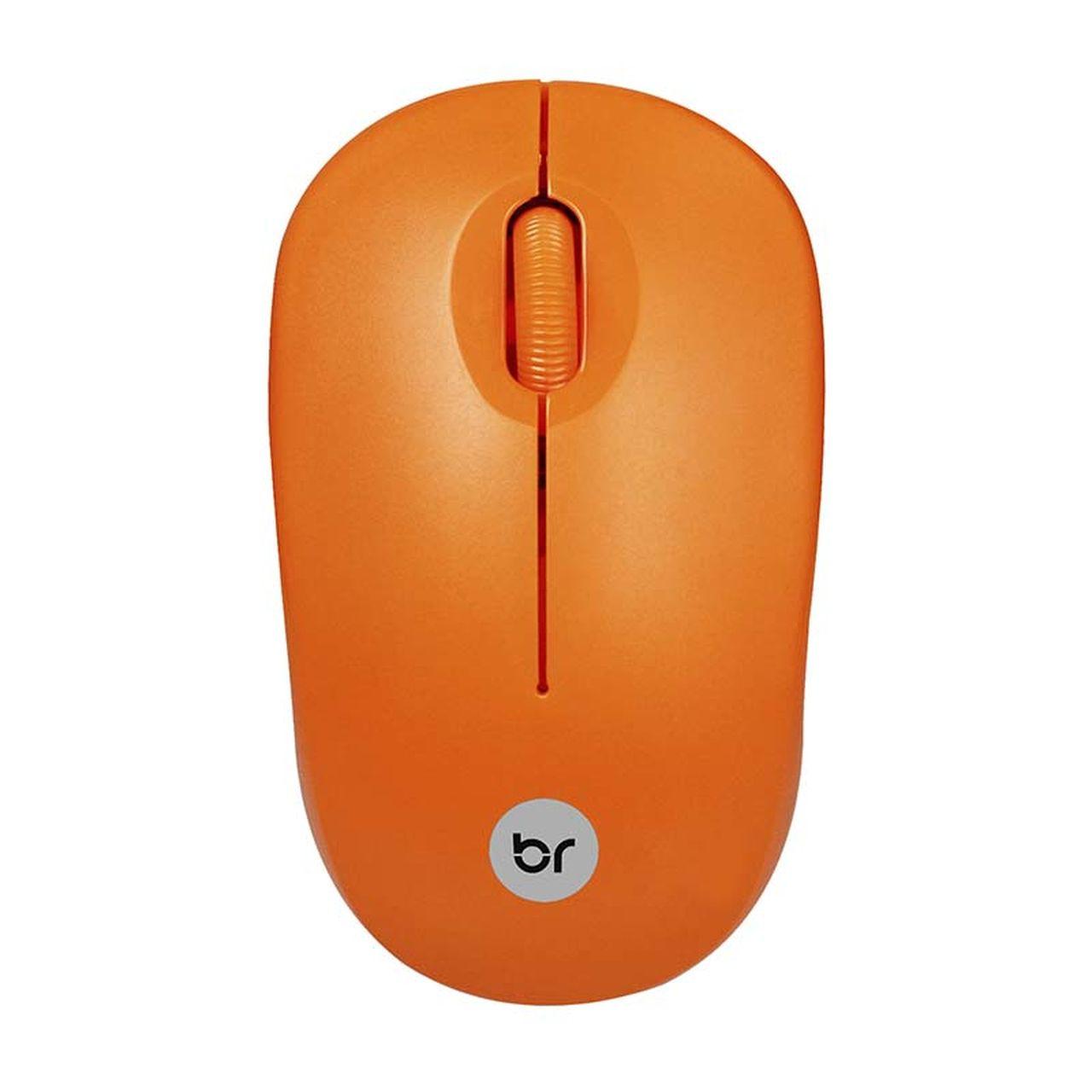 Mouse Sem Fio 2.4Ghz Usb 800 Dpi Laranja Bright 474