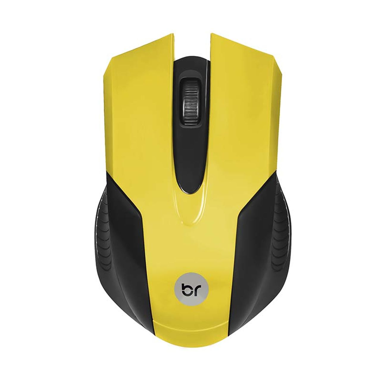 Mouse Usb Amarelo Ergonômico 1000 Dpi Color Bright 378