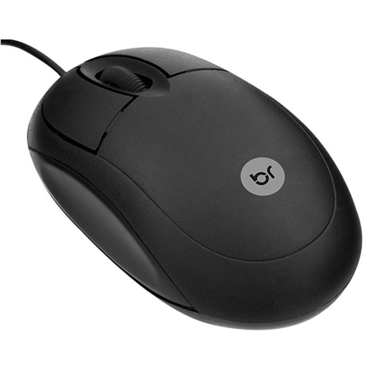 Mouse Óptico Usb Basic Preto 800 Dpi Bright 106